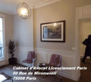 cabinet d'avocat licenciement paris